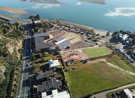 Te Raekura Redcliffs School sitting on its new site. Image credit - Frank Visser.