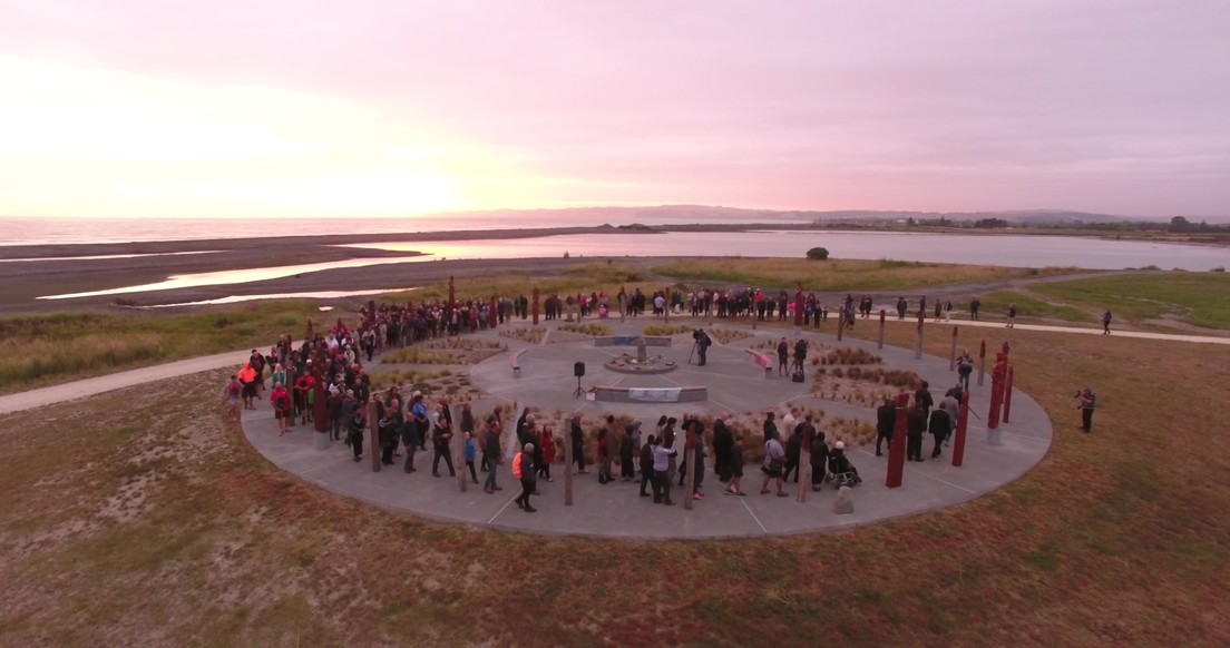 Ātea a Rangi, official opening at dawn on the summer solstice, 2017