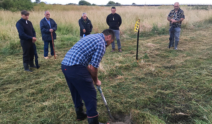 Photo: Mauri stones are placed with a dawn karakia led by Ngati Kahungunu representatives to allow the start of earthworks (8 Jan 2019).