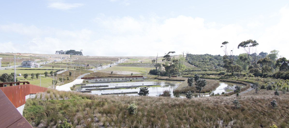 Wetlands in the wider surroundings with Wetland Bridge in the distance_
