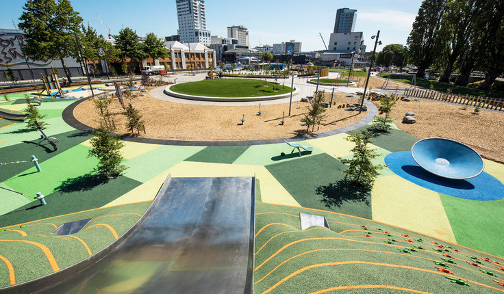 The Margaret Mahy Family Playground by WSP-Opus International Consultants Ltd won NZILA Award of Excellence/Parks in 2017.