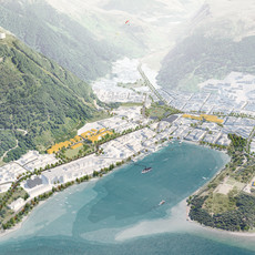 Aerial Perspective of Queenstown Town Centre Masterplan_