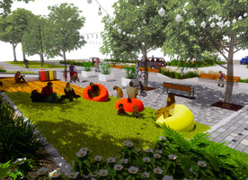 An impression of Burnett Street Pocket Park