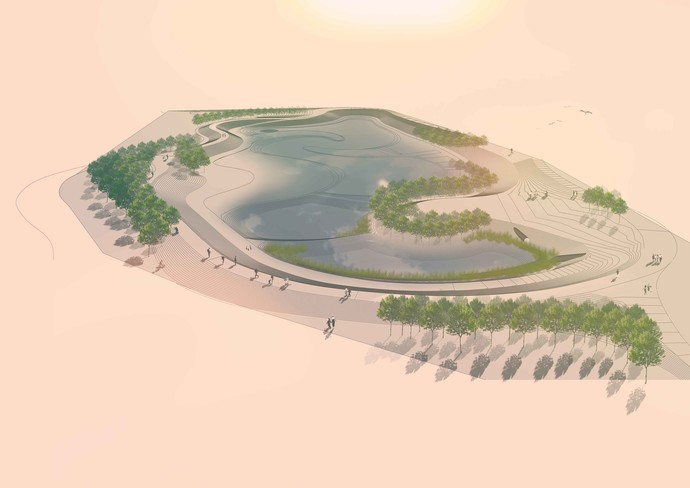 This wetland is very large (approximately 3.5 hectares), and complex (sinuous design), located within the active floodplain of a major stream, situated between a significant ecological area and commercial precinct.
