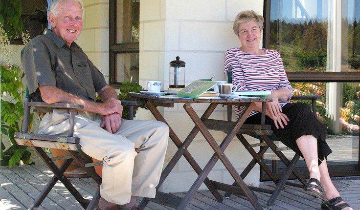 Lawrie and Lena Metcalf at their former 'Greenwood' property in Nelson. Photo: Melanie Kinsey.