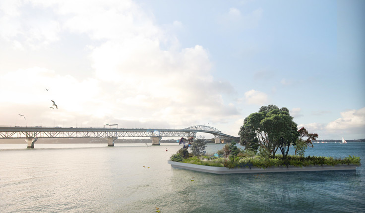 LandLAB's design allows for several islands that can be towed around the harbour and used for different purposes.
