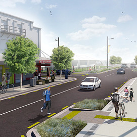 The design narrowed the carriageway and improved walking and cycling connections from Ōtāhuhu Station to the town centre.