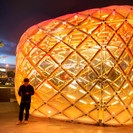 The Pod at night. Image Credit: Nathan Young, Wraight + Associates
