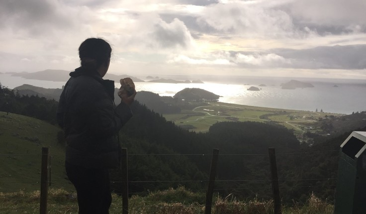Jackie Paul looks out towards Matauri Bay in the Far North.